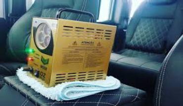 Desinfecção e Sanitização de Interior de Veículos